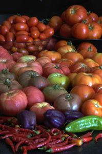 Heirloom Tomatoes and Peppers
